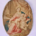 Virgen con niño seda