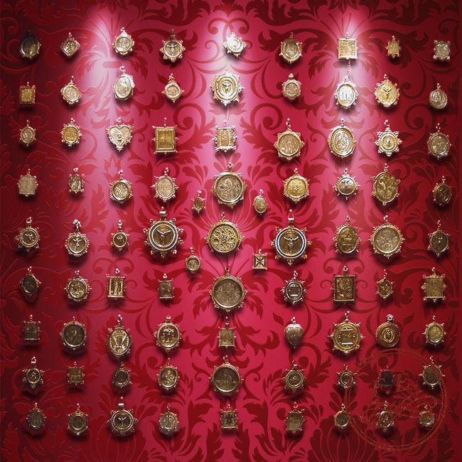 Conjunto de medallas devocionales