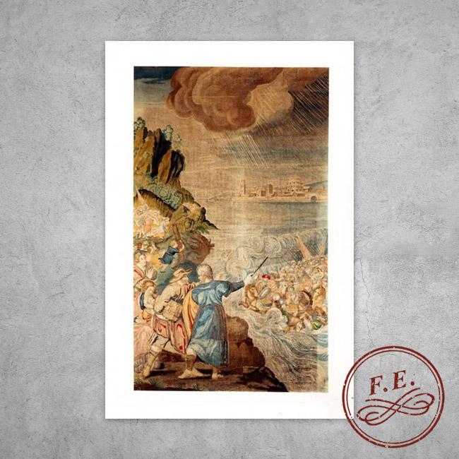 La división de las aguas por Moisés