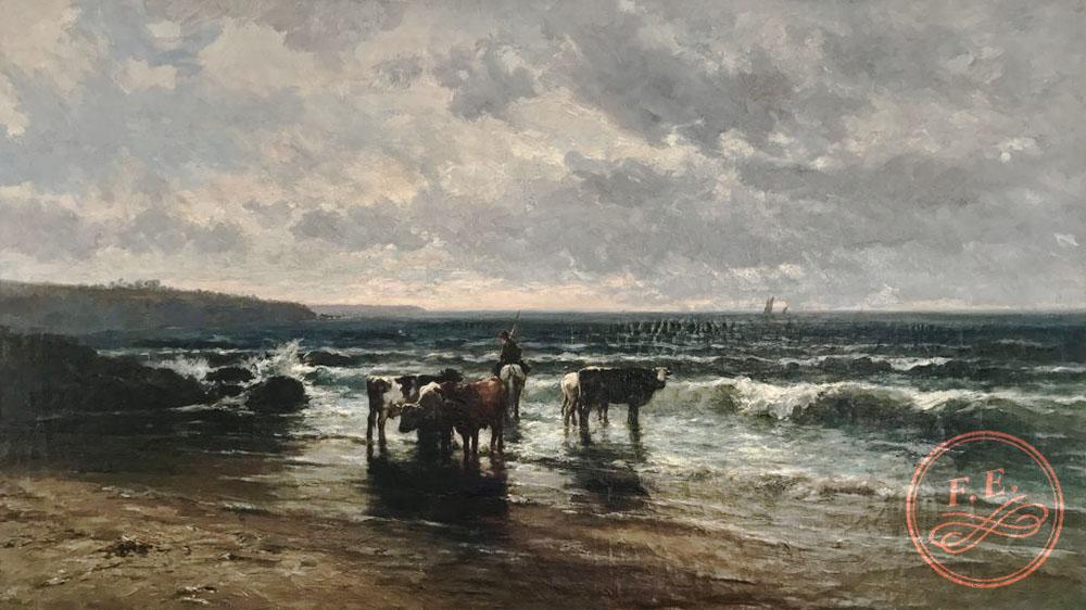 Marina con vacas