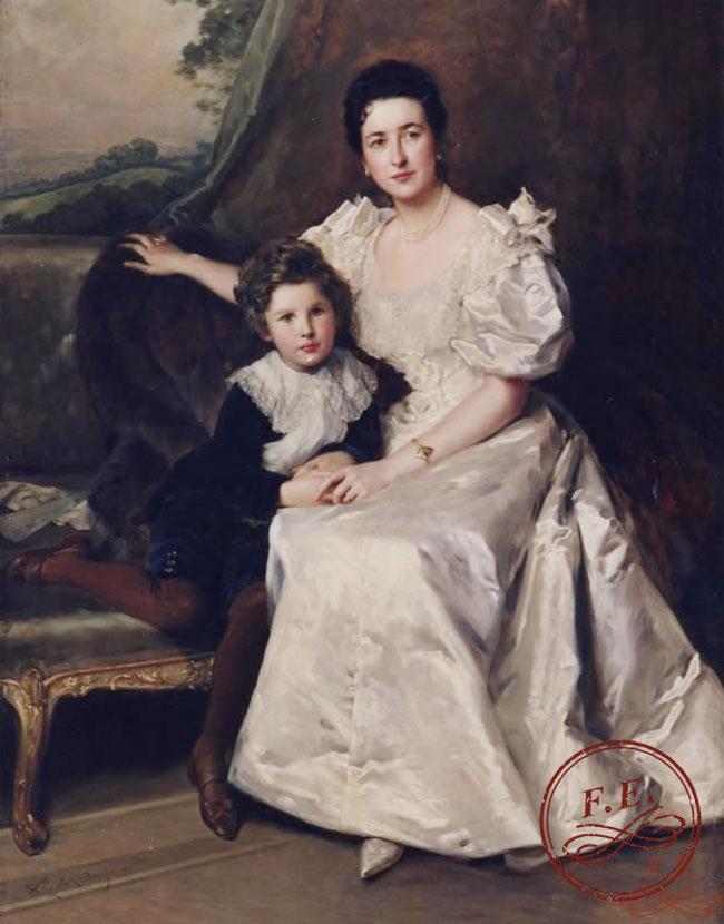 Retrato de dama con su hijo