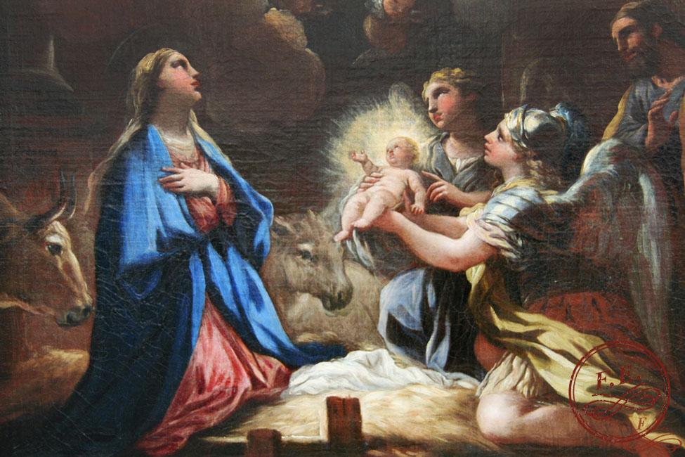 San Miguel y San Gabriel presentan al niño Jesús a sus padres